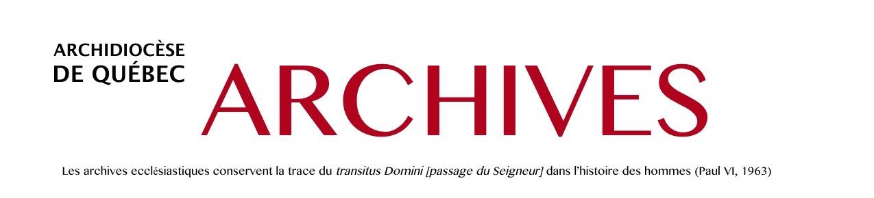 Archives de l'Archidiocèse de Québec